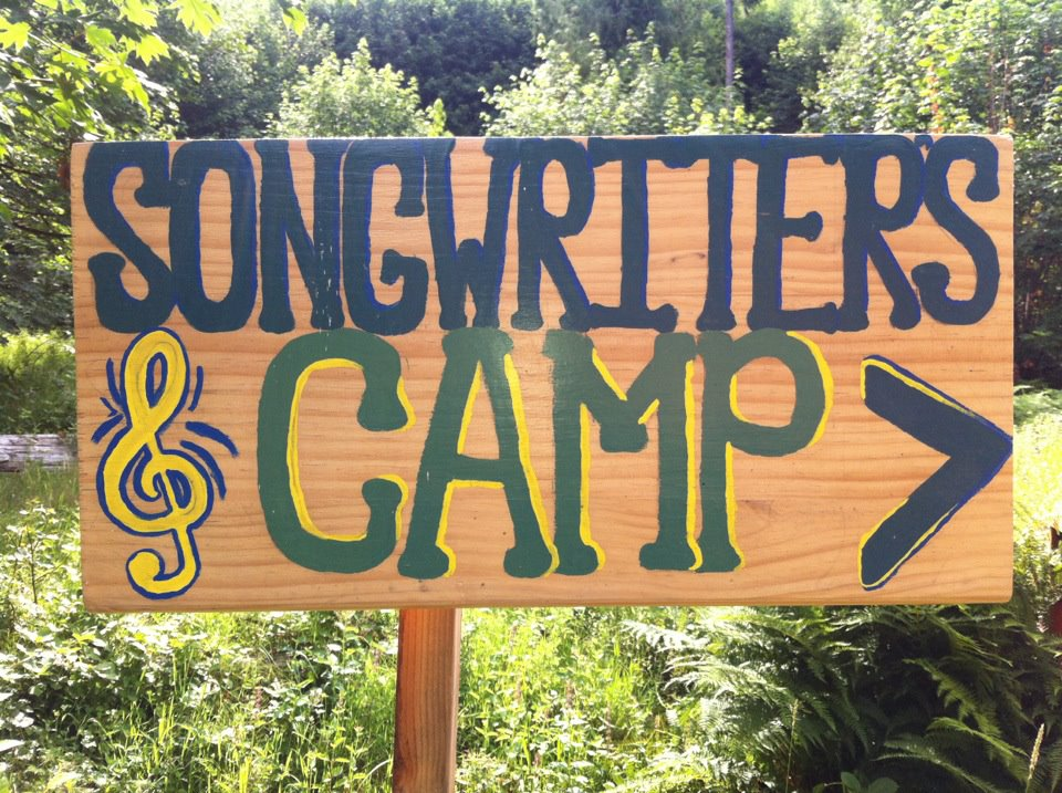 Songwriters Camp sign